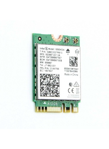 Intel 9260NGW 2.4G/5G 300Mbps+1730Mbps 160 MHz Channels Bluetooth 5.0 NGFF Combo Wifi Adapter